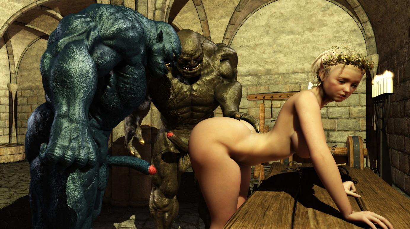 Порно фото фэнтези монстры