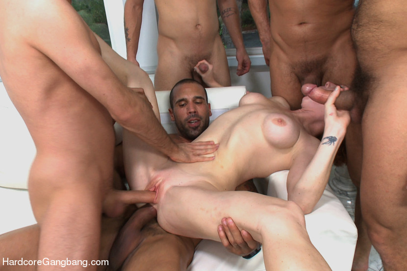 German Teen First Gangbang
